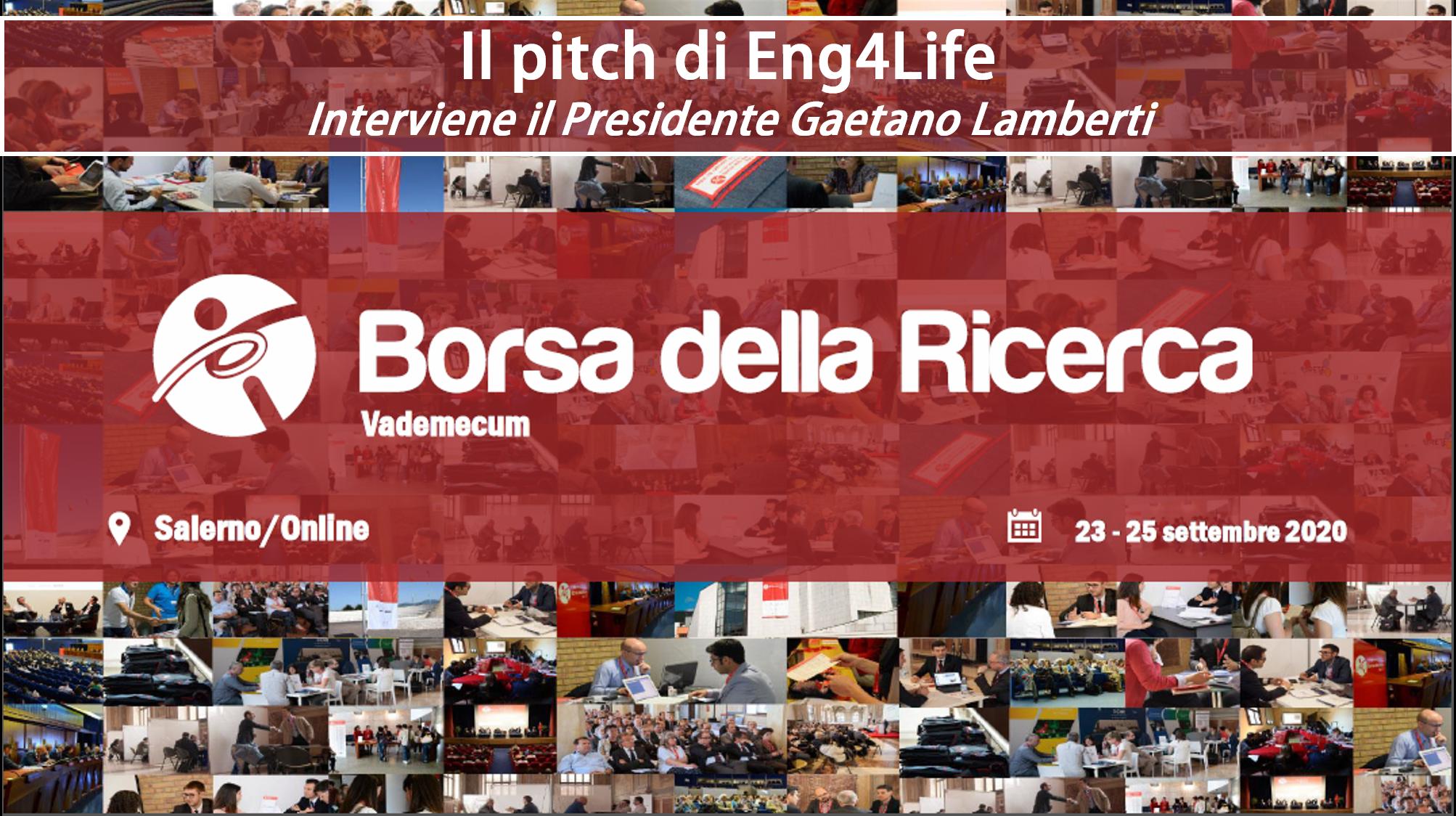 """ng4Life – Pitch XI Forum """"Borsa della Ricerca 2020"""""""
